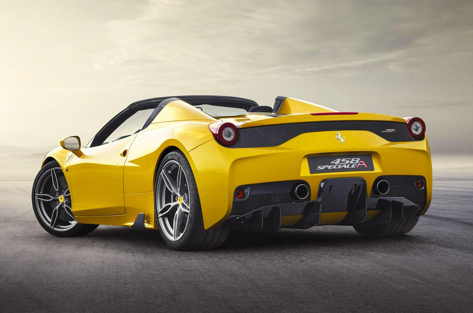 2015 ferrari 458 italia spider speciale aperta unveiled autonews 1. Black Bedroom Furniture Sets. Home Design Ideas